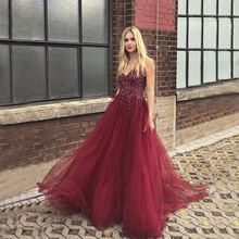 Купить с кэшбэком Angel Married evening dresses with sleeve low v neck prom dress elegant women patry gown formal party dress vestidos de fiesta