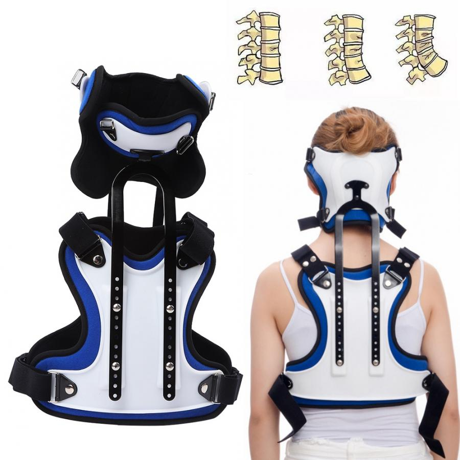 Cervical thoracic orthosis adjustable head neck adjustable U Lumbar support brackets Indicated to treat injuries in the neck(China)