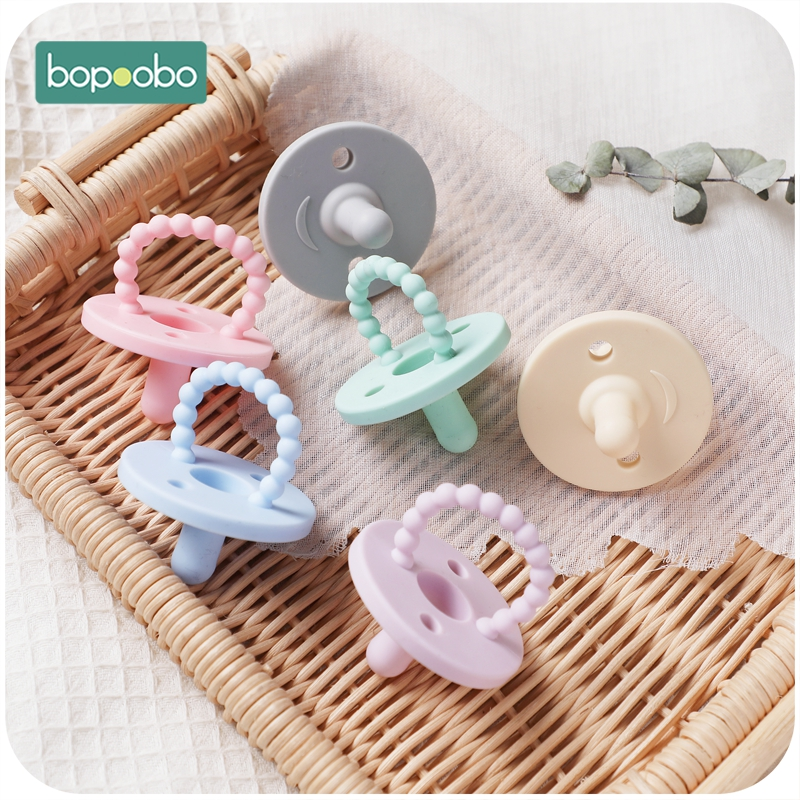 Silicone Nipple 1PCS Bpa Free Silicone Food  Grade Silicone Pacifier Baby Teether Grade Nipple Chewable Nursing Teething  Toys