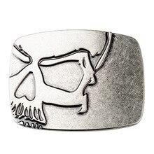 Скелет череп пряжки ремня DIY аксессуары в ковбойском стиле гладкой панк-рок К12