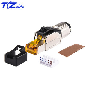 Image 1 - Cat7 RJ45 Ethernet Cable Connector Tool Free Crimping Shielded Ethernet Adapter 8p8c RJ45 Terminal Plug Networking Connectors