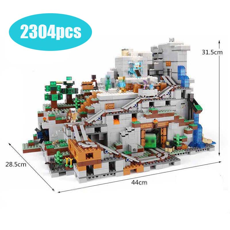 2304PCS Mein Welten Die Mountainglys Cave SPIELZEUG Kompatibel Legoinglys Stadt 21137 Stapeln Block Modell Gebäude Kit Blöcke Ziegel