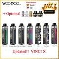 Горячая продажа 70 Вт VOOPOO VINCI X Pod Kit wi/Двойная Катушка система питание от одного аккумулятора 18650 Без батареи Vape Kit VS Vinci Kit/Drag 2
