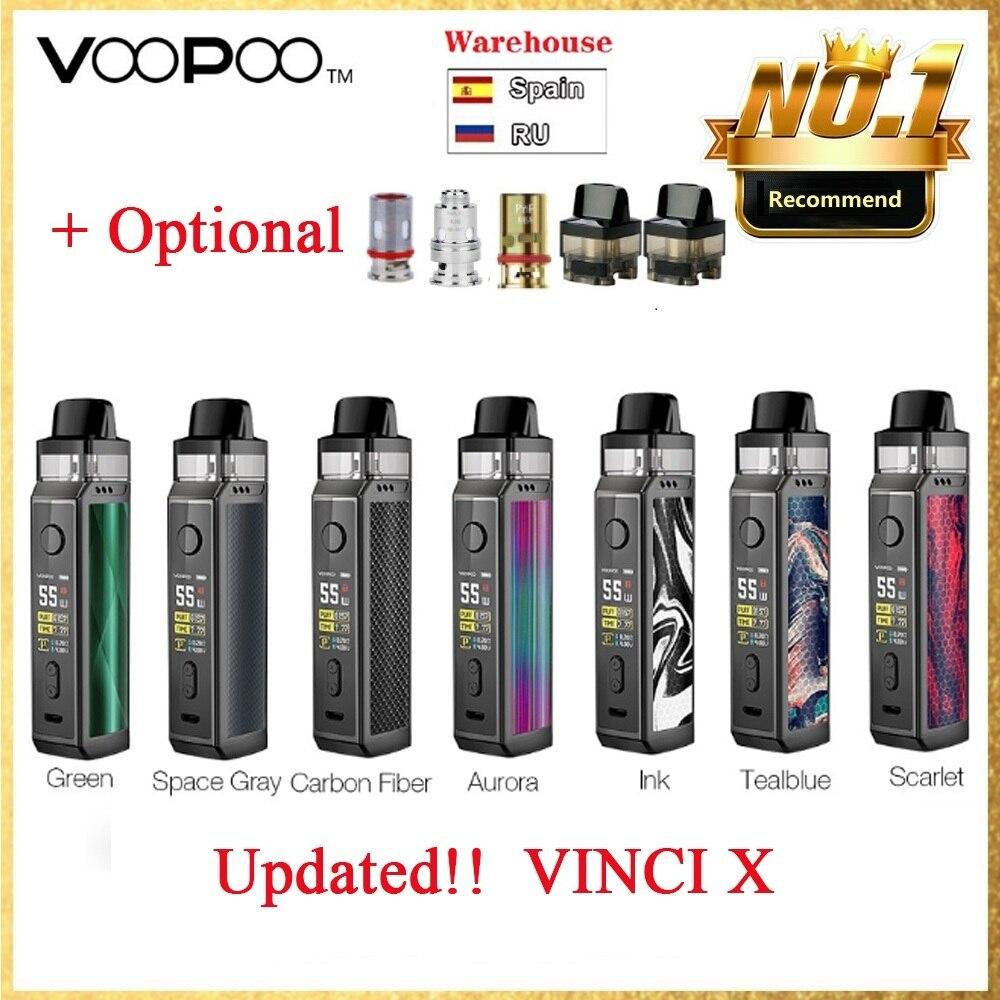 Oryginalny Zestaw 70W VOOPOO VINCI X Pod System Wi/Dual-coil Zasilany Pojedynczą Baterią 18650 Brak Bateria Do Parownika Zestaw VS Vinci/przeciągnij 2