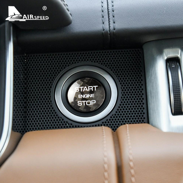 AIRSPEED for LAND ROVER Discovery Sport Range Rover Evoque Velar Carbon Fibe Sticker Engine Start Button Ignition Device Decal 2