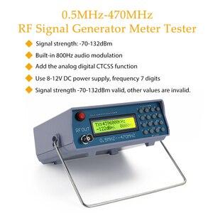 Image 2 - 0.5MHz 470MHz RF Signal Generator Meter Tester Tesrting Tool Digital CTCSS Singal Output for FM Radio Walkie talkie Debug