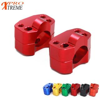 Motorcycle 1 1/8 CNC Aluminum Handlebar Risers 28mm Adjustable Fat Bar Clamps Universal For KTM EXC YZF CRF KLX Dirt Pit Bike motorcycle 1 1 8 28mm handlebar fat bar universal motorbike modified aluminum alloy handle bar for gsr750 ktm exc pit dirt bike