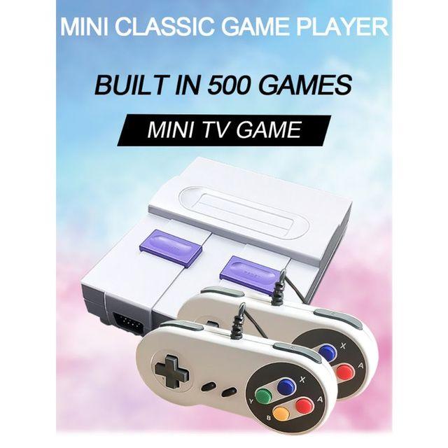 1Set Super Mini 8Bit Spiel Konsole Retro Handheld Gaming Player mit 500 Spiele