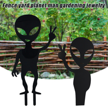 Gardening-Jewelry Decoration Planet Yard Fence Aliens Car G10 Black Outdoor Man
