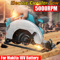 Drillpro Electric Circular Saw Handle Power Tools Dust Passage 5000RPM Multifunction Cutting Machine For Makita 18V Battery