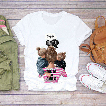 Women Cartoon Super Mom Life Momlife Summer Print Lady T-shirts Top T Shirt Ladies Womens Graphic Female Tee T-Shirt 14
