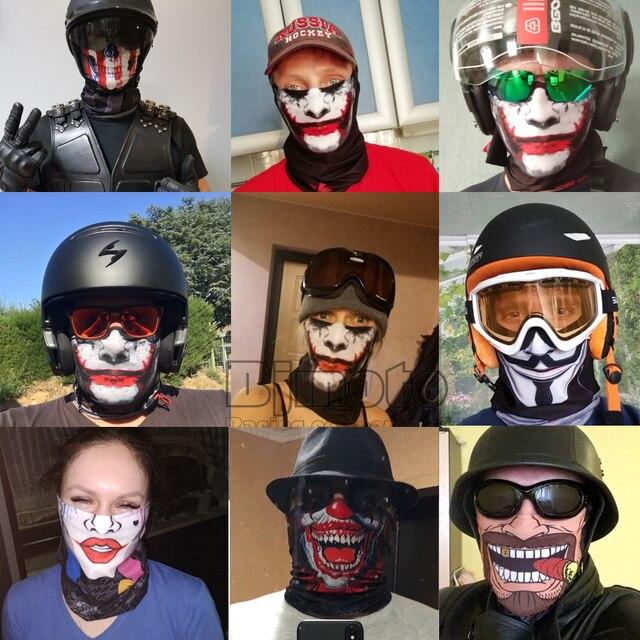 3D Skull Skeleton Balaclava Seamless Motorcycle Neck Face Shield Mask Scarf Bicycle Hunting Outdoor Anti-UV Bandana Headband 5