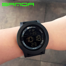 Watch Forefront Of Fashion Digital Dual Time Zone Watches Timing Sport Outdoor Swimming Waterproof Electronic