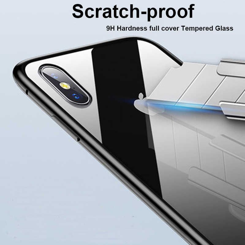 غلاف معدني ممتص مغناطيسي لهاتف آيفون SE 11 Pro XS Max XR X غلاف مغناطيسي من الزجاج المقسى لهاتف آيفون 7 8 6 6s Plus