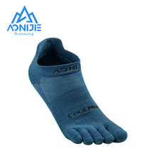 AONIJIE 1Pair Five Toes Sock Quick Drying Breathable Low Cut Socks Ultralight For Outdoor Camping Hiking Trail Running Jogging