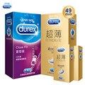 Durex preservativo 30 pces apertado tamanho pequeno 49mmm látex natural fino extra lubrificante preservativo pênis luva adulto seguro sexo brinquedos produtos para o homem