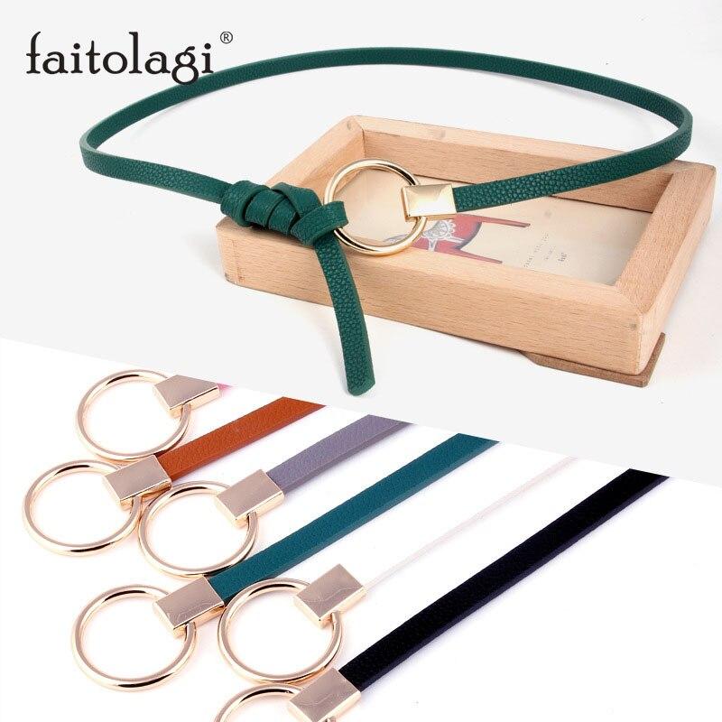 Candy Color Women Belt Thin Pu Leather Belt Female Waist Belts For Women Dress Strap Cinturon Mujer Ceinture Femme Cinto