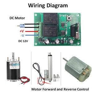 Image 4 - جهاز التحكم عن بعد 433Mhz تيار مستمر 12 فولت 2CH rf التتابع جهاز إرسال واستقبال ل كراج عن بعد التحكم وتغيير المحرك السلبية الإيجابية