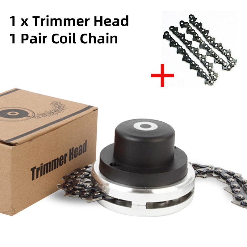 Universal Trimmer Head Coil Chain Brush Cutter Garden Grass Trimmer Head Upgraded With Thickening Chain For Lawn Mower