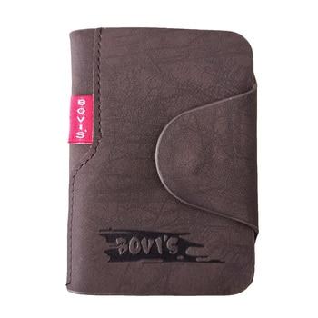 KUDIAN BEAR Leather Business Card Holder Credit Cover Bags Hasp Organizer Women Men Tarjetero BIH003 PM49 - discount item  49% OFF Wallets & Holders