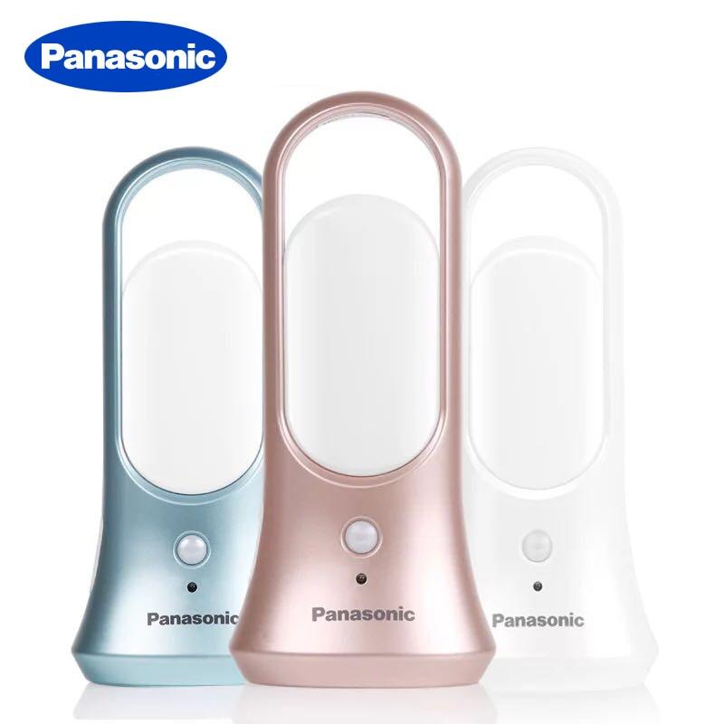 Panasonic LED Mini Portable Night Light Flashlight Body Motion Sensor Light Auto On/Off Lamp