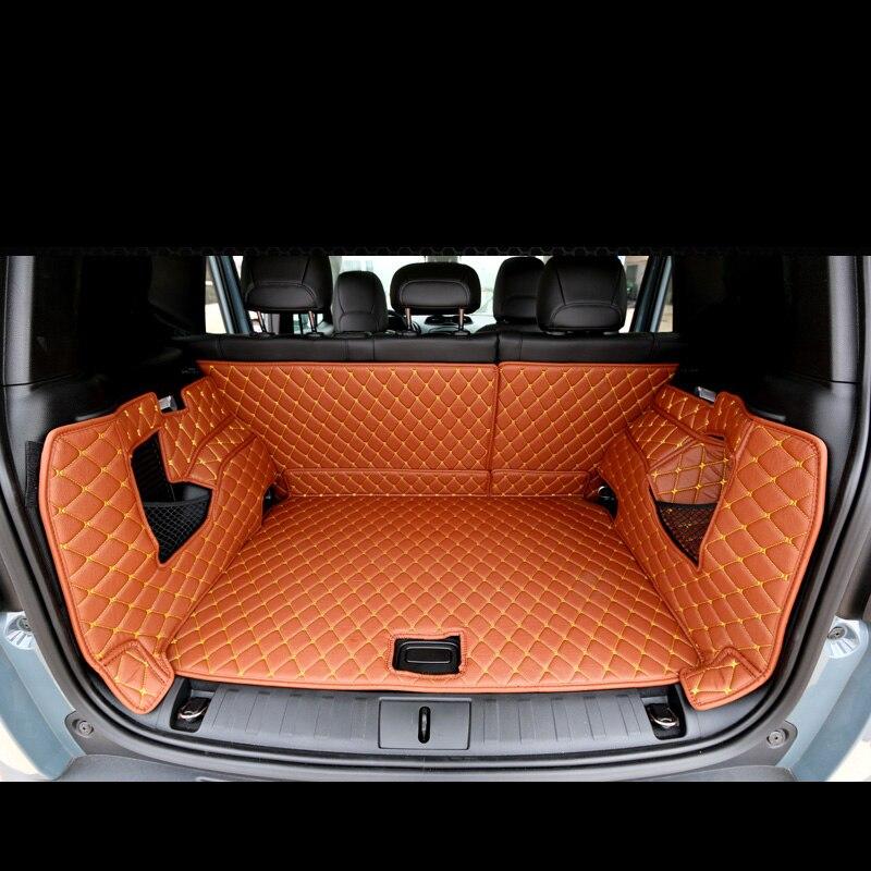 Lsrtw2017 para jeep renegado de cuero para el maletero del coche estera de carga 2015 2016 2017 2018 2019 2020 alfombra de accesorios interiores