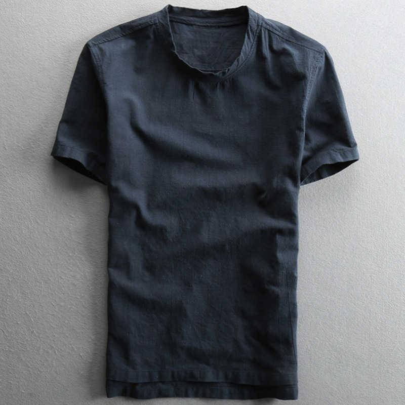 Chinesischen Stil Sommer Männer Shirts Plus Größe 5XL Europäischen und Amerikanischen Stil Vintage Männer Leinen Hemd Elfenbein Marke Kleidung 2020 a752
