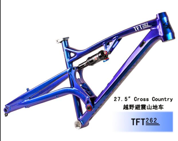27.5inch Mountain Bike Frame Soft Tail Frame Downhill Bicycle Frame Aluminum Frame Bicycle Accessories