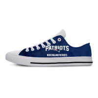 Patriots Classic Canvas Lightweight Fashion Men/Women Casual Shoes Breathable Flat Leisure Sneakers New England Football Fans