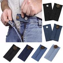 1шт унисекс юбки брюки джинсы талии расширитель талии расширитель кнопка брюки расширитель кнопка пояс эластичный расширение пряжки