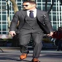 Fashion Terno Masculino Custome Homme Men Suits Terno Slim Fit Brand ClothingDesigner Blazer(Jacket+Pant+tie+vest+handkerchiefs)