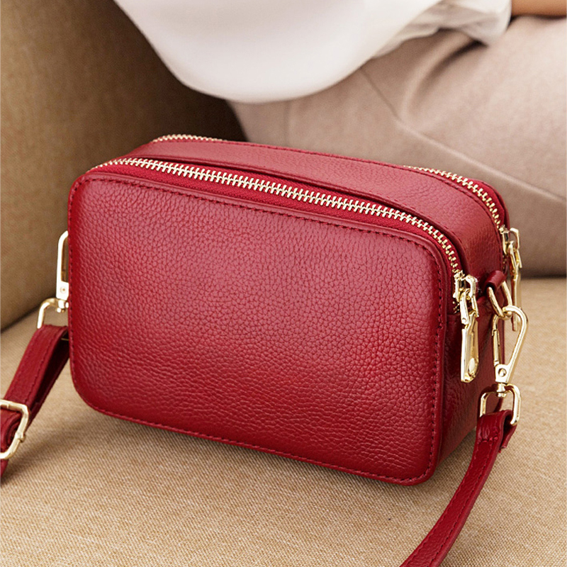 Genuine Leather Small Ladies Crossbody Bags Female Casual Shoulder Messenger Bags For Women Luxury Handbag Fashion Purse Bag