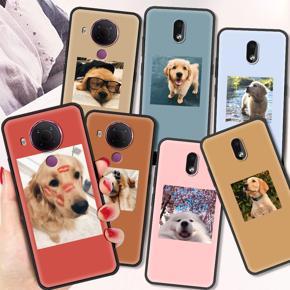 Cute Dog Luxury Silicone Cover For Nokia 2.2 2.3 3.2 4.2 7.2 1.3 5.3 8.3 5G 2.4 3.4 C3 1.4 5.4
