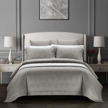 100% de algodón hojas Jacquard edredón Set Queen King size Vintage gris azul marino sólido de lujo juego de sábanas