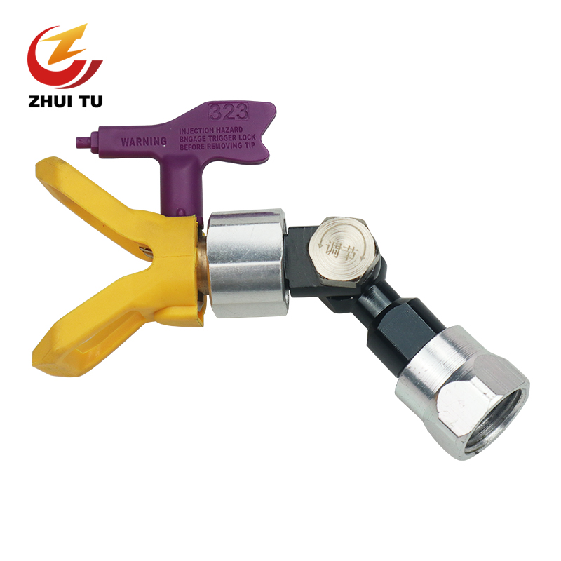 3 In 1 Airless Paint Sprayer Joint Adapter Straight Hose Swivel Spray Nozzle 7/8''F-7/8''M With Airbrush Tip And Spray Gun Seat