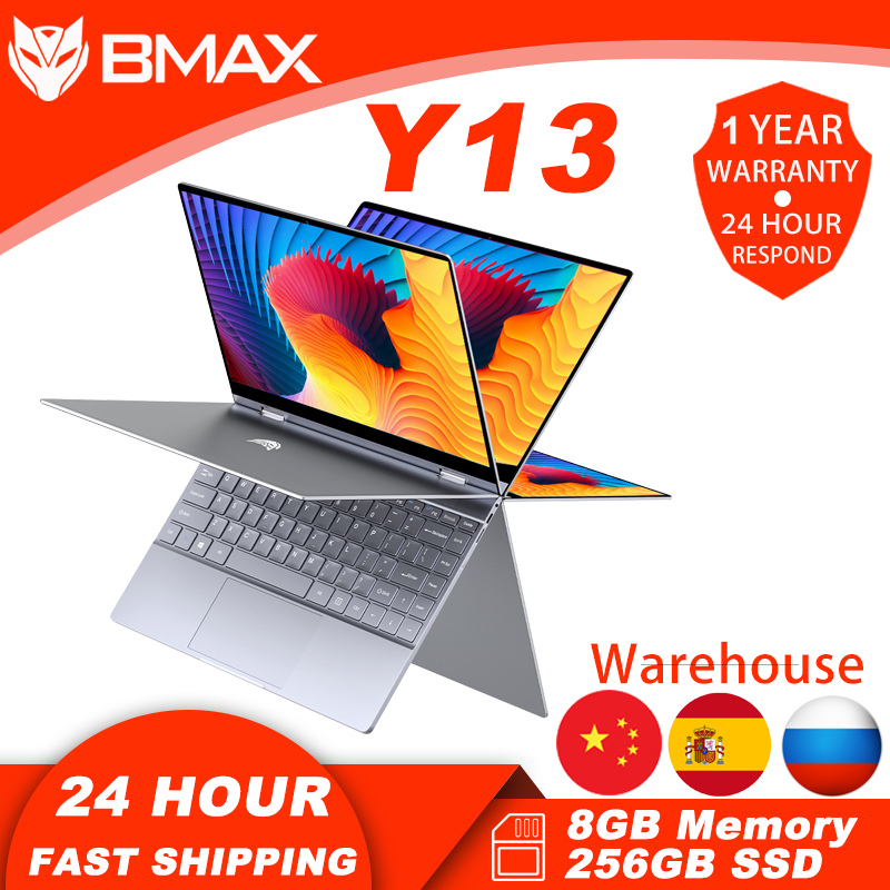 BMAX Y13  Notebook Computer 13.3 inch 8GB RAM 256GB SSD Intel N4120 Laptops Window 10 1920×1020 Display with Blutooth Wifi