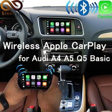 Sinairyu WIFI ワイヤレス Apple Carplay アウディ車再生レトロフィット 2010-2016 A4 A5 Q5 2009-2011 A6 a7 A8 Q7 MMI Android ミラーリング(China)