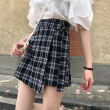 Summer Skirt Women High Waist Plaid A-Line Casual Fashion Kawaii Student Skirts Shorts
