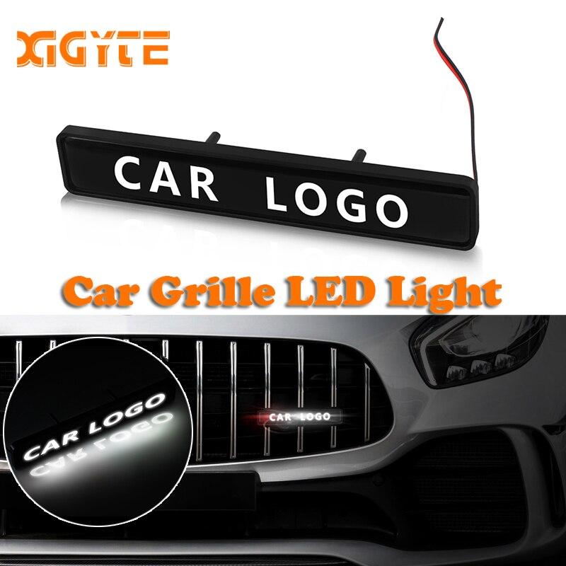 Araba Sticker ön kaput Grille amblemi LED dekoratif işıklar Bmw için Audi Ford Toyota Volkswagen Benz Kia Nissan Jaguar Dodge jeep