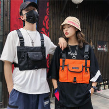 Street Popular Brand Chest Pack Hong Kong Style Men And Women Couples Bump Modeling Function-Style Tactical Vest Waistcoat Bag B(China)
