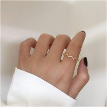 Matte Metal Matte Texture Stackable Ring Wheat Wave & Clear CZ Finger Rings For Women Ring Jewelry Engagement Jewelry boosbiy 2019 hot sale 52 styles stackable party finger ring for women original brand heart crown ring engagement jewelry