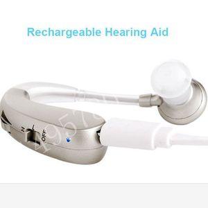Image 2 - Şarj edilebilir Mini dijital işitme cihazı ses amplifikatörleri kablosuz kulak yardımcıları yaşlılar için orta şiddetli kaybı damla nakliye