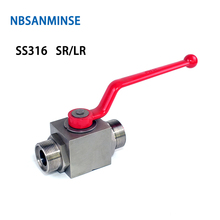 NBSANMINSE High Pressure Ball Valve Stainless Steel SS316 SR LR Thread Hydraulic Industrial Engineering Anticorrosion Valve цена