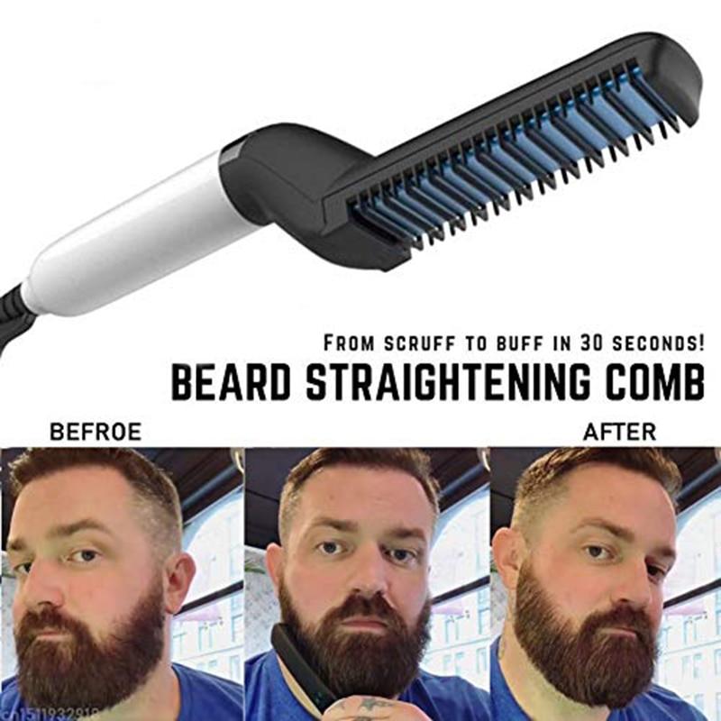 Multifunctional Hair Comb Beard Straightener Hair Straighten Comb Hair Curler Quick Hair Styler For Men Quick Hair Male Board