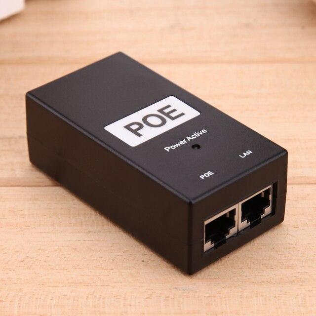 48 فولت 0.5A 24 واط سطح المكتب POE حاقن الطاقة إيثرنت محول القياسية PD ميناء امدادات الطاقة لمراقبة CCTV دروبشيبينغ