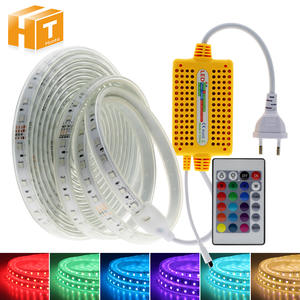 Led-Strip Remote-Controller Outdoor-Use Waterproof Flexible RGB 220V with IR Blue Rgb/double-White