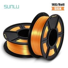 Sunlu filamento da impressora 3d pla filamento de seda bronze seda 1kg 2.2 lbs 1.75mm por rolo diy para recargas impressão 3d