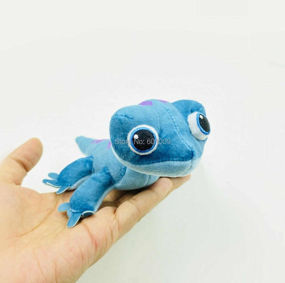 Elsa Anna Princess Bruni Salamander Blue Lizard 15CM Plush Keychain Pendant Toy ZYTJ
