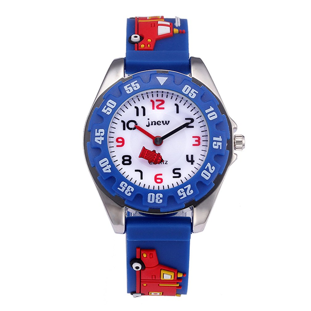 Permalink to Children'S Cartoon Fire Truck Watch Waterproof Quartz Watch Silicone Watch Girls Boys Children'S Watch 3D Silicone Strap
