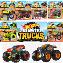 1:64 Original Hot Wheels Giant Wheels Crazy Barbarism Monster Metal Model Car Toy Hotwheels Big Foot Car Children Birthday Gift